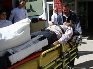 Ceviz ağacından düşerek yaralandı