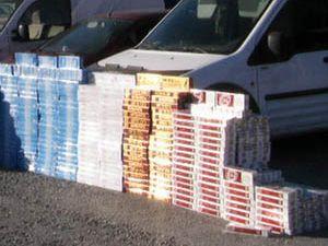 Kaçak sigaralar Konyaya gelmeden ele geçti