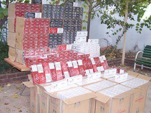 15 bin paket kaçak sigara yakalandı