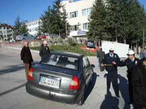 Beyşehirde trafik kazası : 1 yaralı