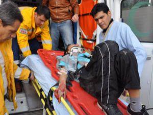 Minibüsün çarptığı öğrenci ağır yaralandı