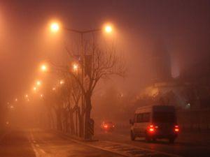 Konyada sis ulaşımı olumsuz etkiledi