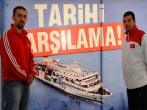 Mavi Marmaraya sembolik karşılama