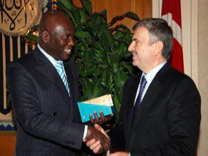 Senegal Büyükelçisi Akyüreki ziyaret etti