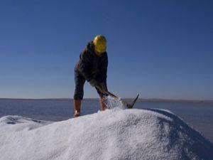 Tuz üreticisi bayram yapıyor