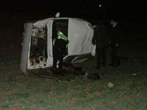 Otomobill takla attı: 5 yaralı