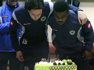 Konyasporda sürpriz doğum günü partisi