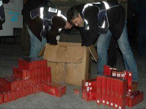 8 bin 600 adet kaçak sigara ele geçirildi