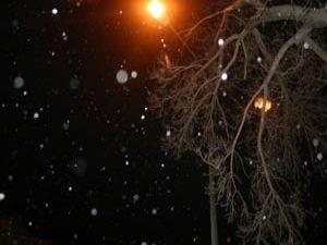 Ve beklenen kar geldi