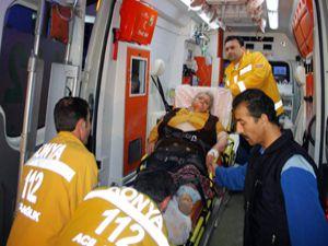 Engelli baba ailesini kurtardı