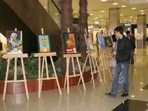 Başak Koleji öğrencilerinden resim sergisi