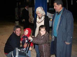 Libyadan gözyaşları içinde Konyaya geldiler