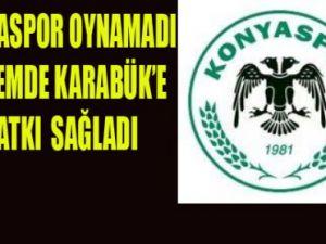 Konyaspor Karabükten çıkamadı