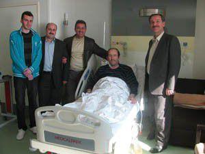 Başkan Hançerli, İsmail Yağcıyı ziyaret etti