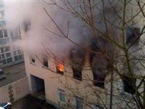 Almanyada Türklere ait bina yakıldı
