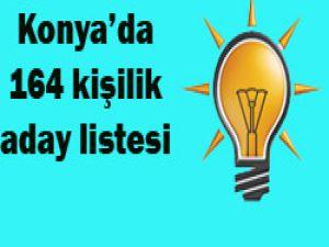 Konya aday adayı listesi