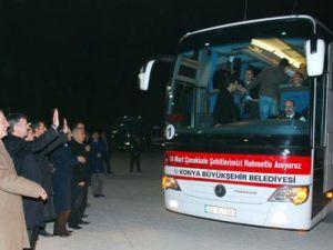 Konyadan öğrenciler Çanakkale yolcusu