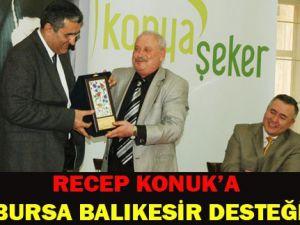 Recep Konuka Türkiyenin dört bir yanından destek