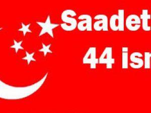 İşte Saadetin aday adayları;
