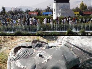 Suriyede isyan: Esadın heykeli yıkıldı