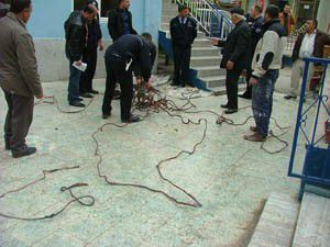 58 kilo bakır kablo ele geçirildi