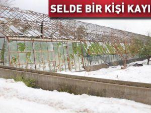 Antalyada dolu ve sel: Bir kişi kayıp
