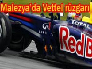 F1de Malezya yarışı Vettelin