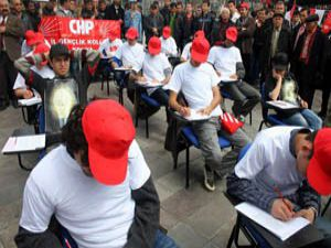 Temsili kopya ile YGS protestosu
