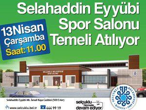 Selahaddin Eyyubi Spor Salonu temeli atılıyor