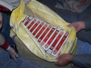 Kaçak sigara için bu kez de treni kullandılar