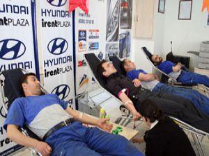 İrentten kan bağışına destek