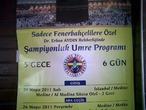 """Sadece Fenerbahçelilere özel """"Umre"""" programı!"""