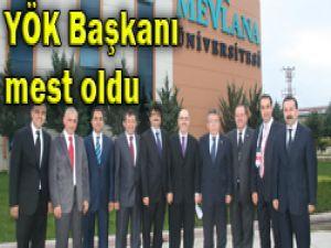YÖK Başkanı Mevlana Üniversitesinde