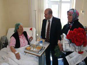 Ak Parti adaylarından hastahane ziyareti