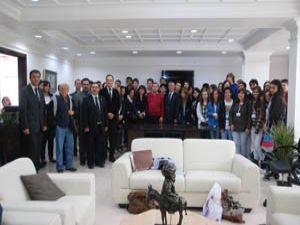 Portekiz ve İtalyan öğrenciler Akşehirde