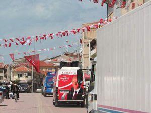 Beyşehirde kortej geçişi