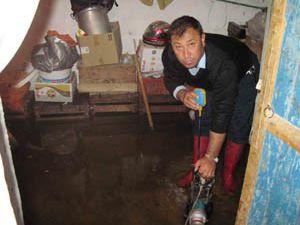 Konyada evleri su bastı