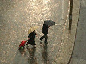 Konyada sağanak yağış