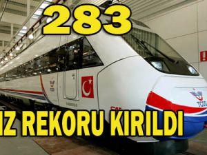 Hızlı tren Konyada hız rekoru kırdı