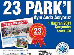 Selçukluda 23 yeni park daha hizmete girecek