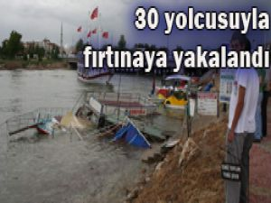 Beyşehirde gezinti teknesi battı