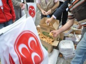 MHPli milletvekili adayı 8 bin püskevit dağıttı