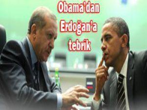 Obama Erdoğanı tebrik etti