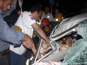 Konyada trafik kazası: 1 ölü 5 yaralı