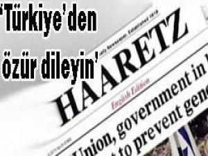 Haaretzden Mavi Marmara için özür