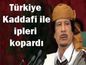 Kaddafi ile ilişkiler resmen bitti