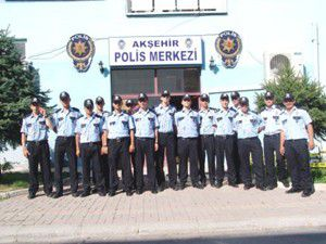 Akşehirde 33 polis adayı staja başladı