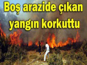 Konyada korkutan yangın