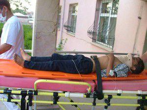 Kuluda otomobilin çarptığı çocuk yaralandı