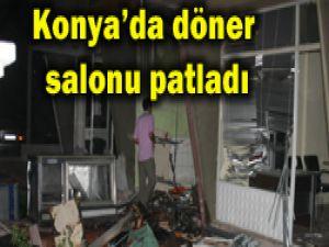 Konyadaki lokantada şiddetli patlama